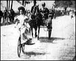 Main image of Hyde Park Bicycling Scene (1896)