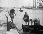 Main image of Fishermen and Boat at Port Said (1897)