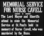 Main image of KS3/4 History: TB 218-2 - Memorial Service for Nurse Cavell (1915)