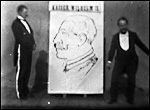 Main image of Tom Merry, Lightning Cartoonist, Sketching Kaiser Wilhelm II (1895)