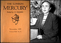 the cover of the London Mercury and a picture of Iris Barry