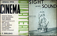 Covers of Cinema Quarterly and Sight and Sound