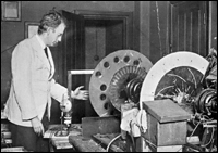 Baird with some of his early television apparatus