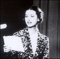 Early TV announcer Elizabeth Cowell